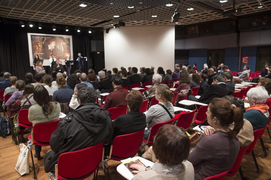 Premiers Plans 2014, lecture de scénario au centre de congrès