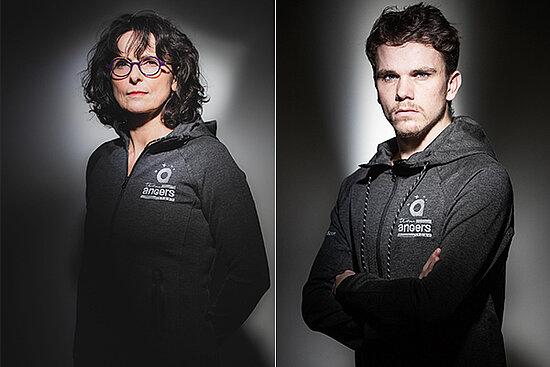 Portraits de Claire Supiot et Matéo Bohéas.