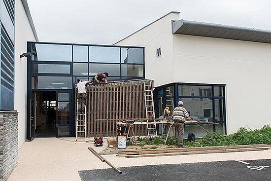Photo des travaux salle du Trois-Mâts