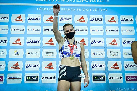 Photo du podium d'Amandine Brossier.