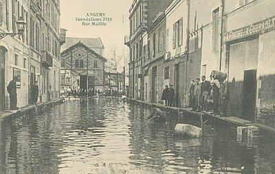 Photo d'illustration d'Angers au début du 20e siècle.