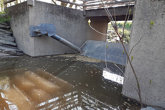 Photo du barrage du parc Balzac