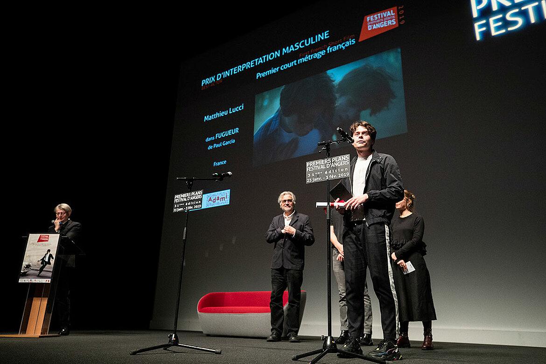 Prix d'interprétation masculine, courts-métrages français: Matthieu Lucci dans Fugueur, de Paul Garcia.