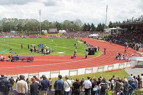 Photo du stade du Lac de Maine à Angers.