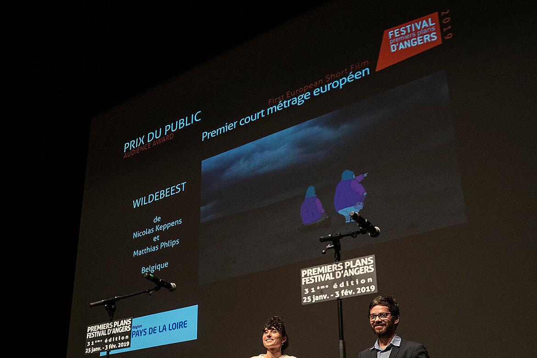 Prix du public, courts-métrages européens: Wildebeest, de Nicolas Keppens et Matthias Phlips.