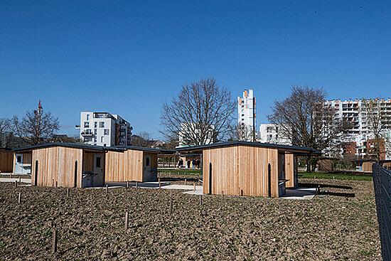 Photo des nouveaux jardins partagés du parc Balzac.