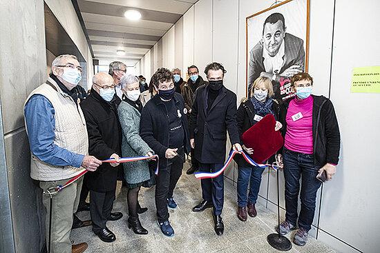 Photo de l'inauguration des nouveaux locaux des Restos du coeur à Angers.