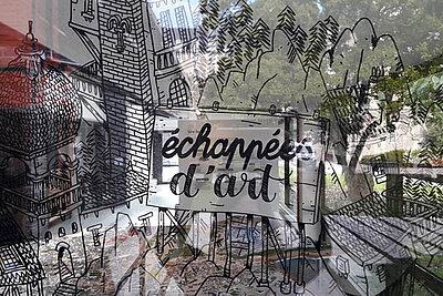 Photo de la fresque de Dupin et Duclos visible au Repaire urbain