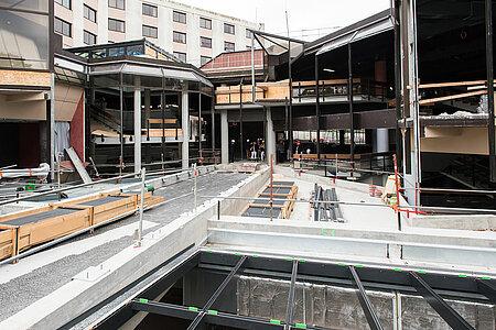Vue sur la future terrasse qui pourra accueillir des événements.  <i>(Photo: Jean-Patrice Campion, Ville d'Angers)</i>