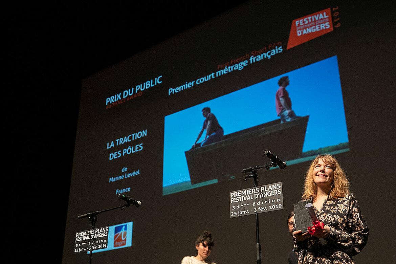 Prix du public, courts-métrages français: La Traction pôles, de Marine Levéel.
