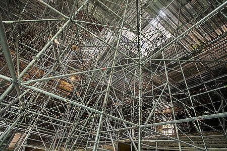 L'impressionnant échafaudage de l'auditorium. <i>(Photo: Jean-Patrice Campion, Ville d'Angers)</i>