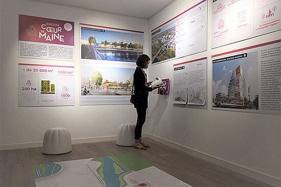 Photo de l'exposition présentée à la Maison des projets d'Angers