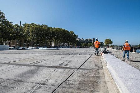 La couverture de la voie des berges sera engazonnée. <i>(Photo: Jean-Patrice Campion, Ville d'Angers)</i>