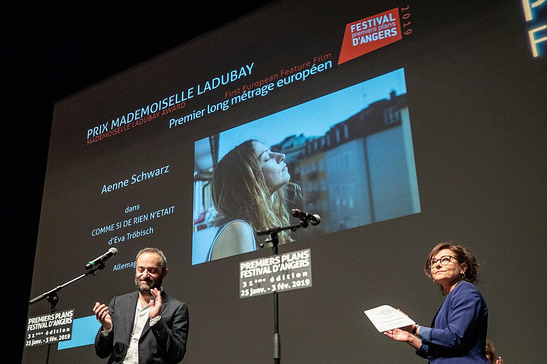 Prix Mademoiselle Ladubay, longs-métrages européens: Aenne Schwarz, dans Comme si de rien n'était, d'Eva Tröbisch.