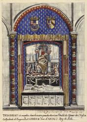 Tombeau de René d'Anjou © Cliché Bibliothèque Nationale de France.