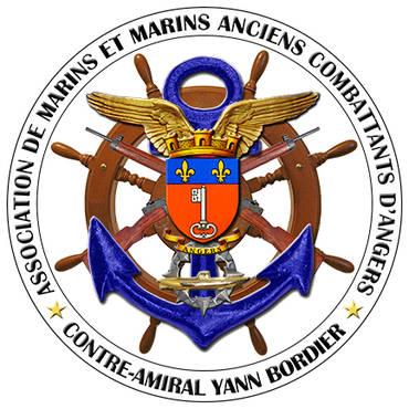 Logo ASS. DE MARINS ET MARINS ANCIENS COMBATTANTS D'ANGERS ET SA REGION CONTRE AMIRAL YANN BORDIER
