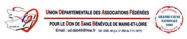 Logo UNION DEPARTEMENTALE DES ASS. FEDEREES POUR LE DON DE SANG BENEVOLE DE M&L