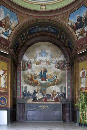 La Bénédiction de la chapelle en 1854 (Lenepveu) © Région des Pays de la Loire-Inventaire général, cliché F. Lasa.