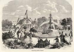 L'exposition de 1858, lithographie. Archives Municipales d'Angers, Photothèque, 3 Fi 176.