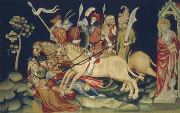 Tenture de l'Apocalypse.La myriade des cavaliers (envers)© Cliché DRAC des Pays de la Loire.