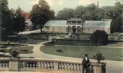 Vue vers les serres, vers 1905.Archives municipales d'Angers, Photothèque, collection Robert Brisset, 9 Fi 1073.