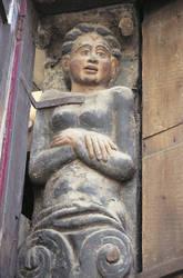 Maison Simon Poisson 67, rue Beaurepaire : figure engainée © Ville d'Angers. Cliché Stéphanie Vitard