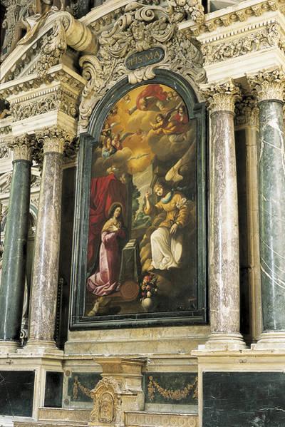 Maître-autel : tableau figurant l'Annonciation © Ville d'Angers. Marc Chevalier.