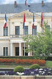 Balcon d'honneur de l'hôtel de ville.Ancien collège des Oratoriens remanié au XIXe siècle © Ville d'Angers. Cliché Patrice Campion