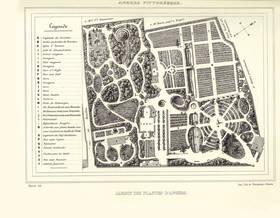 Le jardin des Plantes en 1843 : plan publié par Tardif-Desvaux, Angers pittoresque.