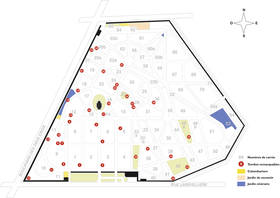 Plan du cimetière de l'Est en 2005. Réalisation bureau d'études du service Parcs, Jardins et Paysages  © Ville d'Angers