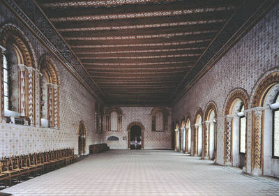 Sala sinodal del antiguo palacio episcopal.