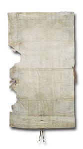 Charte municipale accordée par Louis XI. Février 1475. Parchemin, 122,5 x 68,5. Archives municipales d'Angers.