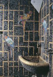 Les mosaïques raffinées des murs des couloirs