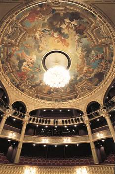 Cúpula de la sala, pintada por Jules-Eugène Lenepveu, sobre el tema de los cuatro Elementos. © Municipalidad de Angers.Imagen de Patrice Campion.