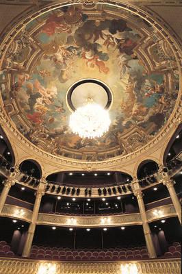 Coupole de la salle, peinte par Jules-Eugène Lenepveu, sur le thème des quatre Eléments.Vue d'ensemble © Ville d'Angers. Cliché Patrice Campion.