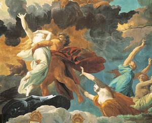 Coupole du théâtre, peinte par Jules-Eugène Lenepveu, l'enlèvement de Proserpine (le Feu)