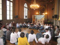 Le grand foyer au Théâtre © Service éducatif Angers, Ville d'art et d'histoire.