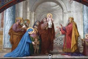 La présentation au Temple (Lenepveu), détail © Région des Pays de la Loire-Inventaire général. Cliché F. Lasa.