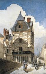 Logis Girard-Abraham autrefois place Romain © Musées d'Angers - Cliché Pierre David.