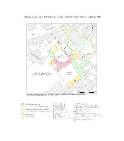 Fondo del plano : cadastro ciudad de Angers, 1990. Concepción: O. Biguet, D. Letellier. Infografía: Isabelle Frager, junio 2004 © Inventario géneral DRAC de Países del Loira / Municipalidad de Angers