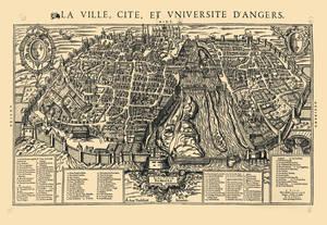 Plan au niveau du parterre, signé et daté par l'architecte Auguste Magne, 1869 © Musées d'Angers.Cliché Pierre David.