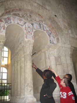 Cloître Saint Aubin©SEVAH - Maison d'Adam© Ville d'Angers. Cliché Jean-Noël Sortant - Abbaye de la Toussaint © Ville d'Angers – Cliché Stéphanie Vitard.