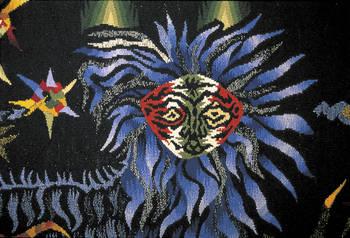 """Jean Lurçat"""" Le Chant du Monde"""", (Ornamentos Sagrados, detail) © Angers Museums-Picture Pierre David Thomas Gleb - """" Printemps (1973) """" Workshop of l'Ecole Nationale des arts décoratifs, Aubusson Donation Gleb (1990) © Angers Museums-Picture Pierre"""