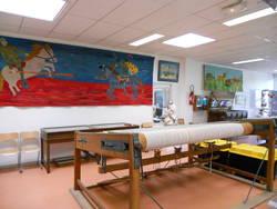Salle de tissage© Service éducatif, Angers, Ville d'art et d'histoire