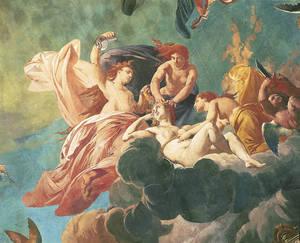 Coupole du théâtre, peinte par Jules-Eugène Lenepveu,la toilette de Vénus (l'Eau) © Photothèque Ville d'Angers - Cliché Patrice Campion.