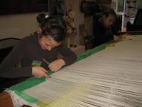 Atelier de tissage © Service éducatif Angers, Ville d'art et d'histoire.