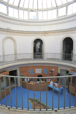Cour circulaire intérieure © Ville d'Angers. Cliché Marc Chevalier.
