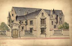 Projet de restauration de l'hôtel des Pénitentes par Rohard, début XXe siècle. Archives municipales d'Angers, 1 Fi 1559.