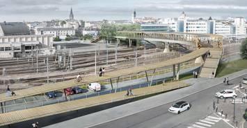 Image Cours Saint-Laud, le projet de la nouvelle passerelle de la gare est arrêté