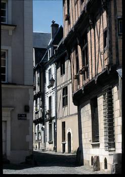 Maisons à pan-de-bois dans le quartier de la Cité © Ville d'Angers - Cliché Stéphanie Vitard.